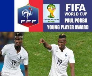 Puzzle de Paul Pogba, Premio jugador joven. Mundial de Fútbol Brasil 2014