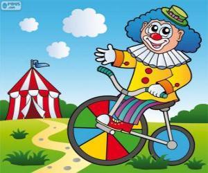 Puzzle de Payaso en bicicleta