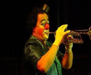 Puzzle de Payaso tocando la trompeta