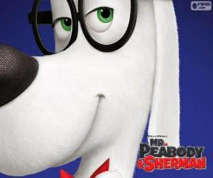 Puzzle de Peabody, el perro, el inventor
