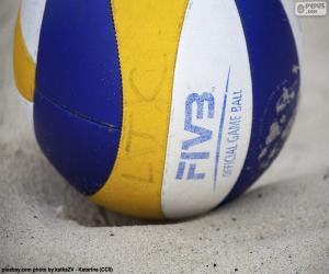 Puzzle de Pelota de voleibol de playa