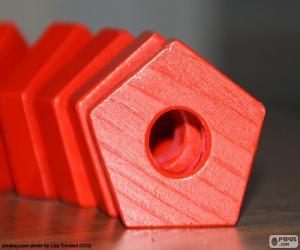 Puzzle de Pentágono regular, polígono de cinco lados