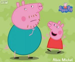 Puzzle de Peppa Pig con su padre