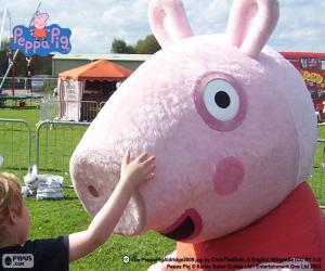 Puzzle de Peppa Pig con un niño