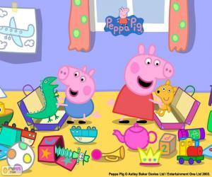 Puzzle de Peppa Pig y George