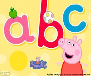 Puzzle de Peppa Pig y las letras abc