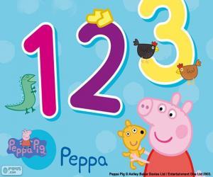 Puzzle de Peppa Pig y los números