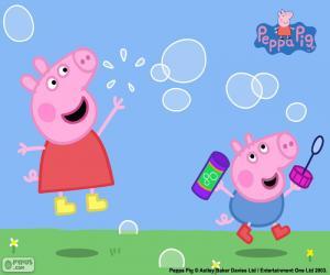 Puzzle de Peppa Pig y pompas de jabón