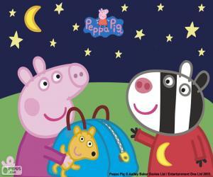 Puzzle de Peppa pig y Zoe cebra