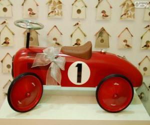 Puzzle de Pequeño coche de juguete correpasillos para Navidad
