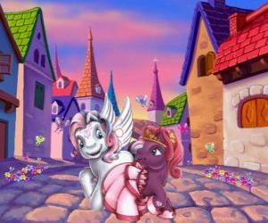 Puzzle de Pequeños ponys en la ciudad