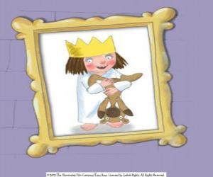 Puzzle de Pequeña Princesa y su osito de peluche