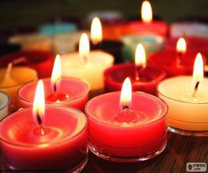 Puzzle de Pequeñas velas, Navidad