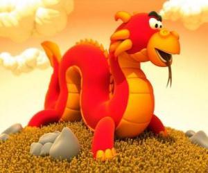 Puzzle de Pequeño y gracioso dragón