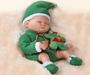 Puzzle de Pequeño duende o duendecillo durmiendo