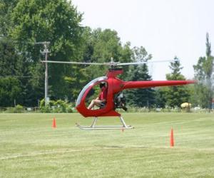Puzzle de Pequeño helicóptero con piloto