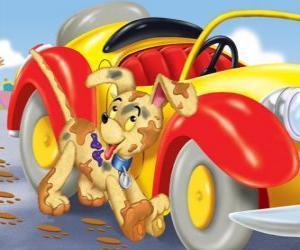 Puzzle de Perrro Bumpy acompaña a Noddy en sus aventuras