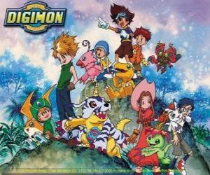 Puzzle de Personajes de Digimon
