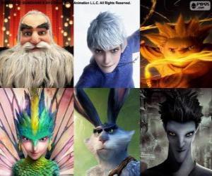Puzzle de Personajes de  El Origen de los Guardianes