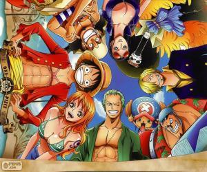 Puzzle de Personajes de One Piece