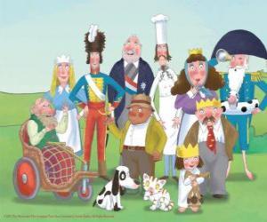 Puzzle de Personajes, de Pequeña Princesa