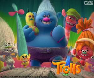 Puzzle de Personajes de Trolls