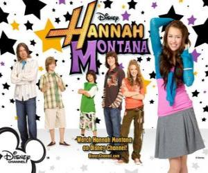 "Puzzle de Personajes principales de Hannah Montana, Miley Ray Stewart, Lillian ""Lilly"" Truscott, Oliver Oken, Jackson Rod Stewart, Robby Ray Stewart y Rico Suave"