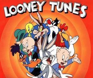 Puzzle de personajes principales de Looney Tunes