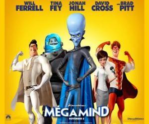 Puzzle de personajes principales de Megamind o Megamente