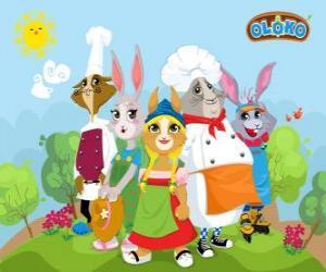 Puzzle de Personajes principales de Oloko