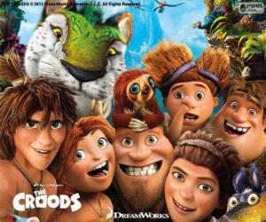 Puzzle de Personajes principales de los Croods