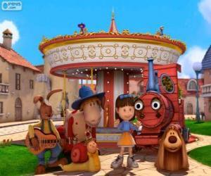 Puzzle de Personajes principales de la película Dougal - El Tiovivo Mágico