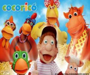Puzzle de Personajes principales de la granja Cocoricó