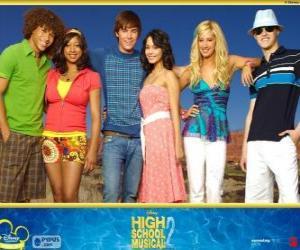Puzzle de Personajes principales de High School Musical 2