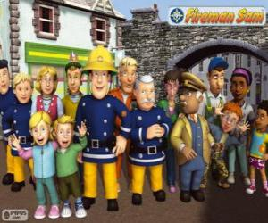 Puzzle de Personajes, Sam el Bombero