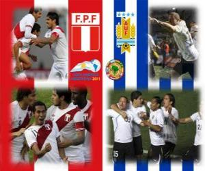 Puzzle de Perú - Uruguay , semifinales, Copa América Argentina 2011