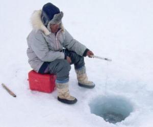 Puzzle de Pesca en el hielo