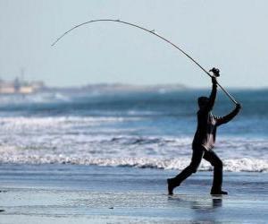 Puzzle de Pescador en la playa