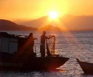 Puzzle de Pescadores al atardecer