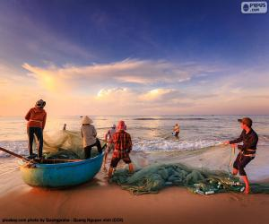 Puzzle de Pescadores en Vietnam