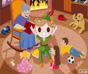 Puzzle de Peter Pan vive en el País de Nunca Jamás
