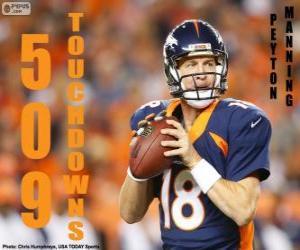 Puzzle de Peyton Manning 509 touchdowns