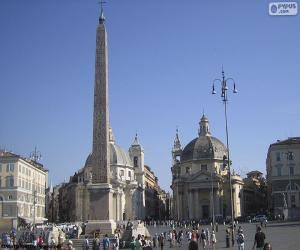 Puzzle de Piazza del Popolo, Roma