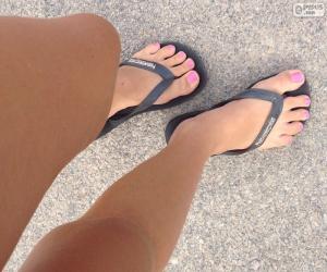 Puzzle de Piernas y pies