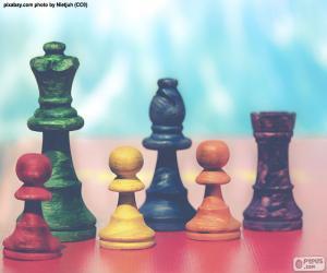 Puzzle de Piezas de ajedrez