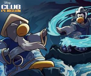 Puzzle de Pingüinos ninja, personajes del famoso Club Penguin
