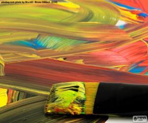 Puzzle de Pintura de varios colores