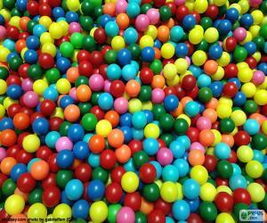 Puzzle de Piscina de bolas de colores