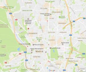 Puzzle de Plano de Madrid