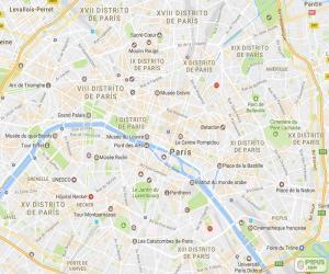Puzzle de Plano de París